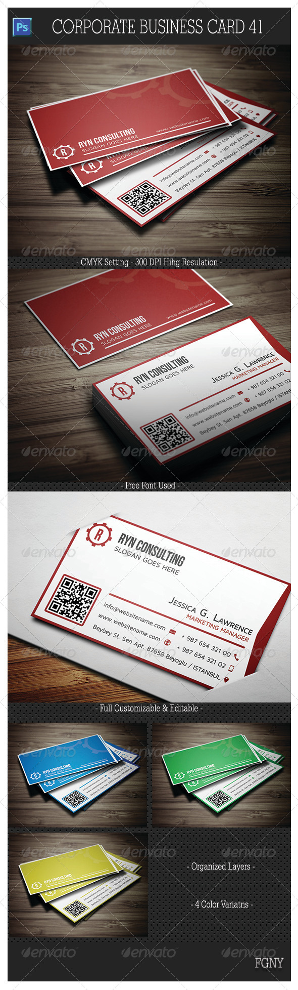 GraphicRiver Corporate Business Card 41 6186975