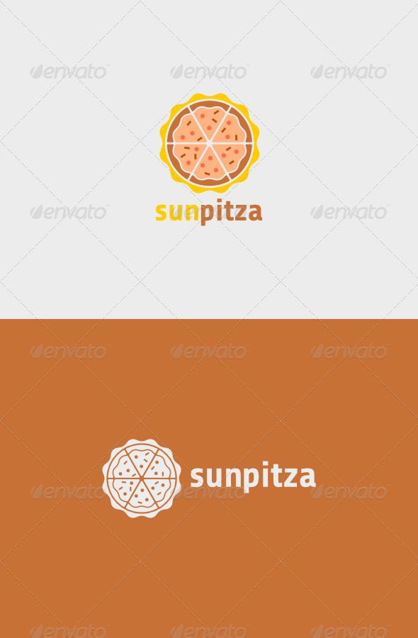 GraphicRiver Sun Pitza Logo 6187007