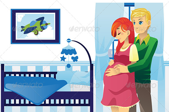 GraphicRiver Happy Pregnant Couple 6187038