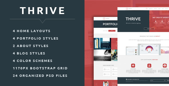 ThemeForest Thrive Multipurpose Creative PSD Template 6187402