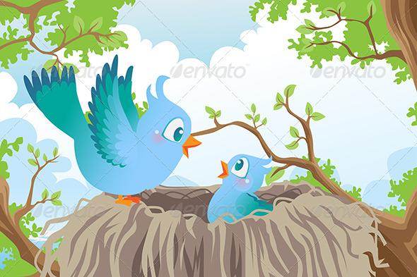 GraphicRiver Birds in Nest 6187702
