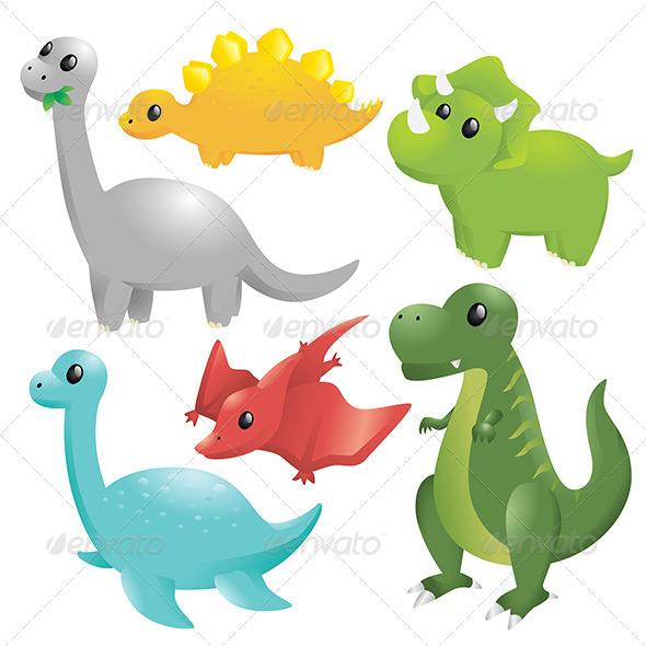 GraphicRiver Dinosaurs 6187705