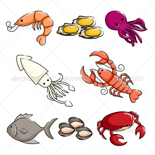 GraphicRiver Sea Animals Icons 6187708