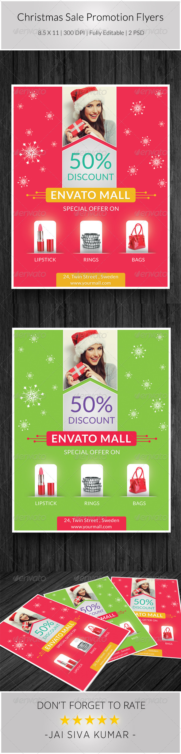GraphicRiver Christmas Sale Promotion Flyers 6187947