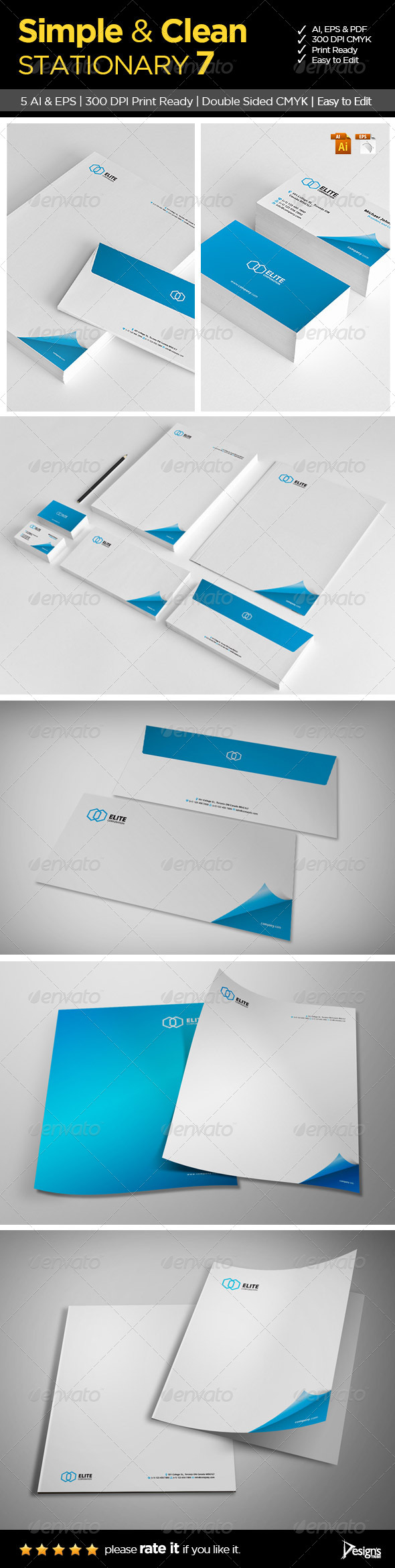 GraphicRiver Simple and Clean Stationary 7 6188057