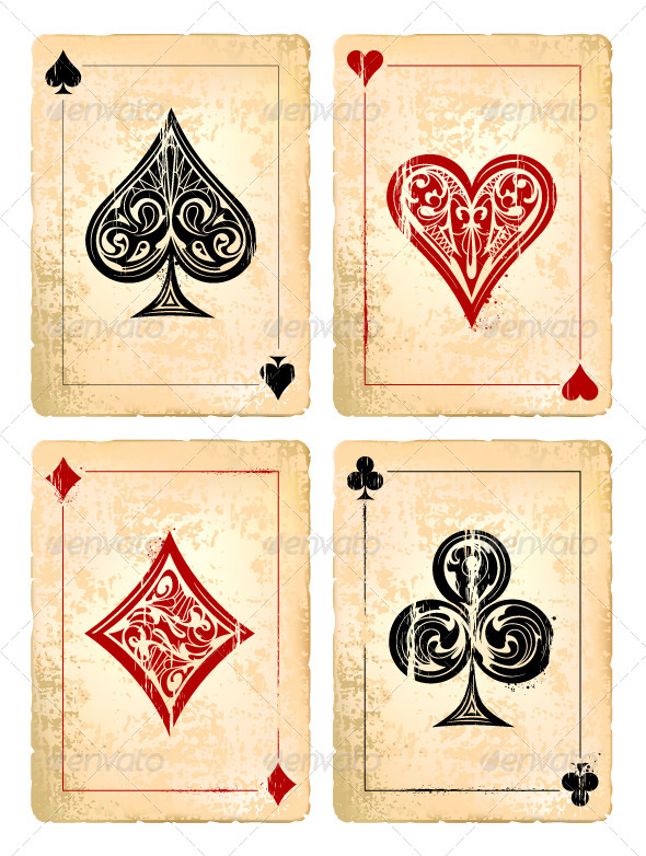GraphicRiver Grunge Poker Cards Vector Set 6188166