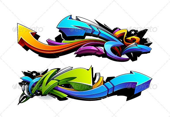 GraphicRiver Graffiti Arrows Designs 6188199