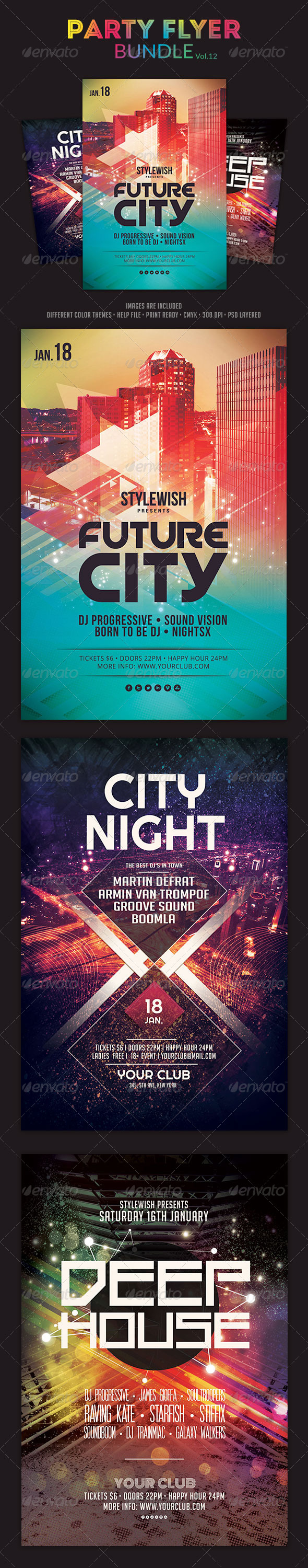 GraphicRiver Party Flyer Bundle Vol12 6188538