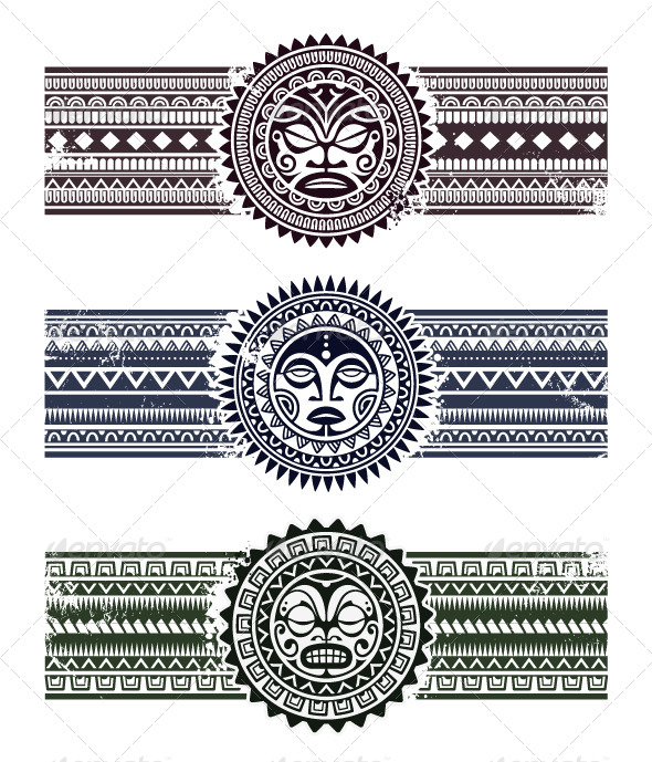 GraphicRiver Polynesian Tattoo Styled Masks 6188546