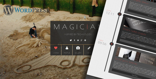 ThemeForest Magician Responsive Parallax WordPress Theme 6188767