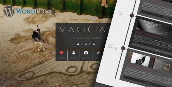 Magician Responsive Parallax WordPress Theme - Portfolio Creative