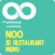 Noo 3D Responsive Restaurant Menu - Real Menu - CodeCanyon Item for Sale
