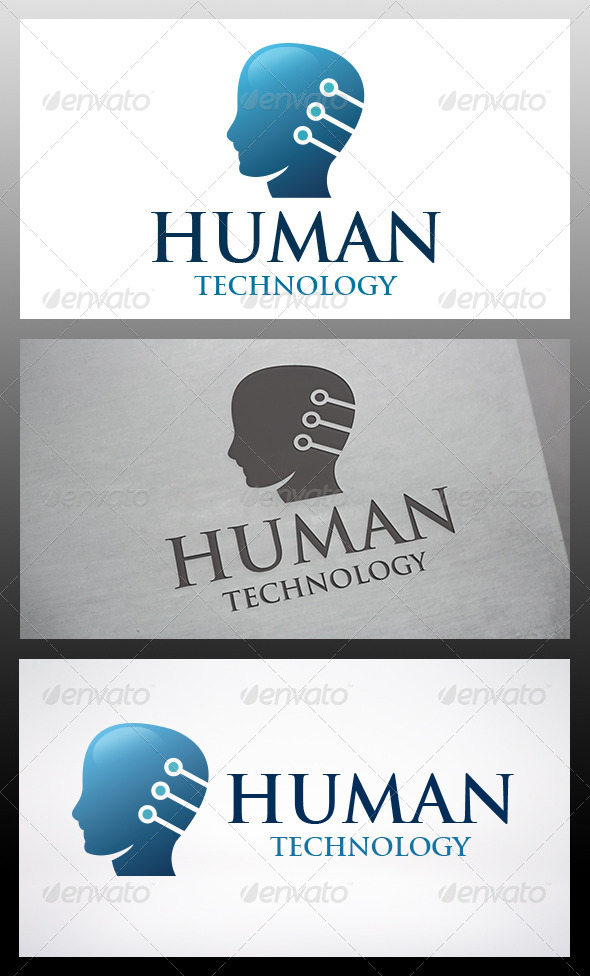 GraphicRiver Human Tech Logo 6189391