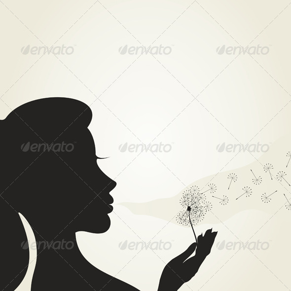GraphicRiver Girl and a Dandelion 6189401
