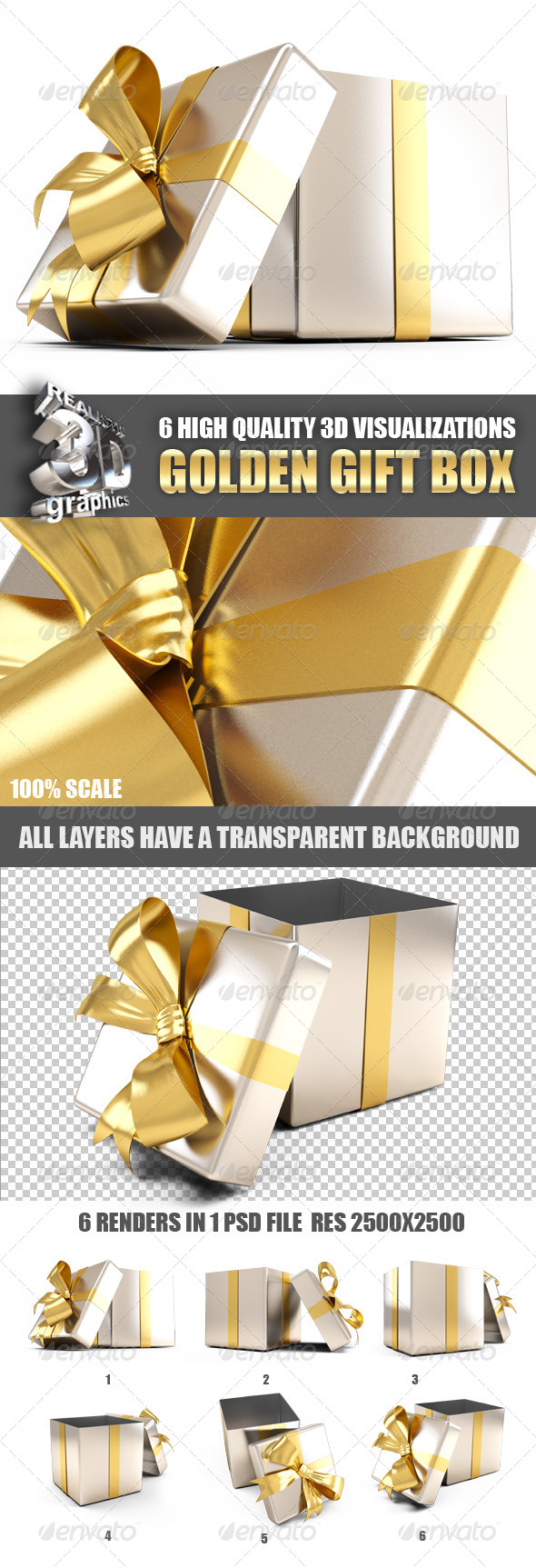 GraphicRiver Golden Gift Box 6189651