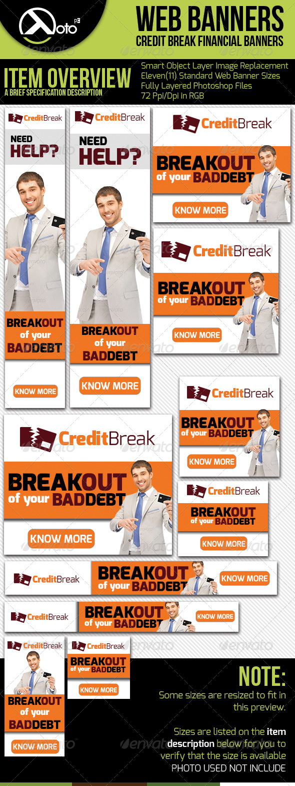 Credit Break Financial Web Banners - Banners & Ads Web Elements