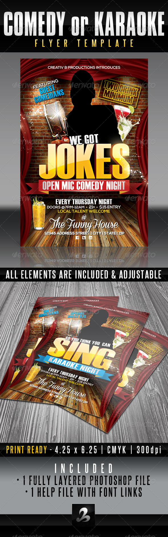GraphicRiver Comedy Night Flyer Template 6151687