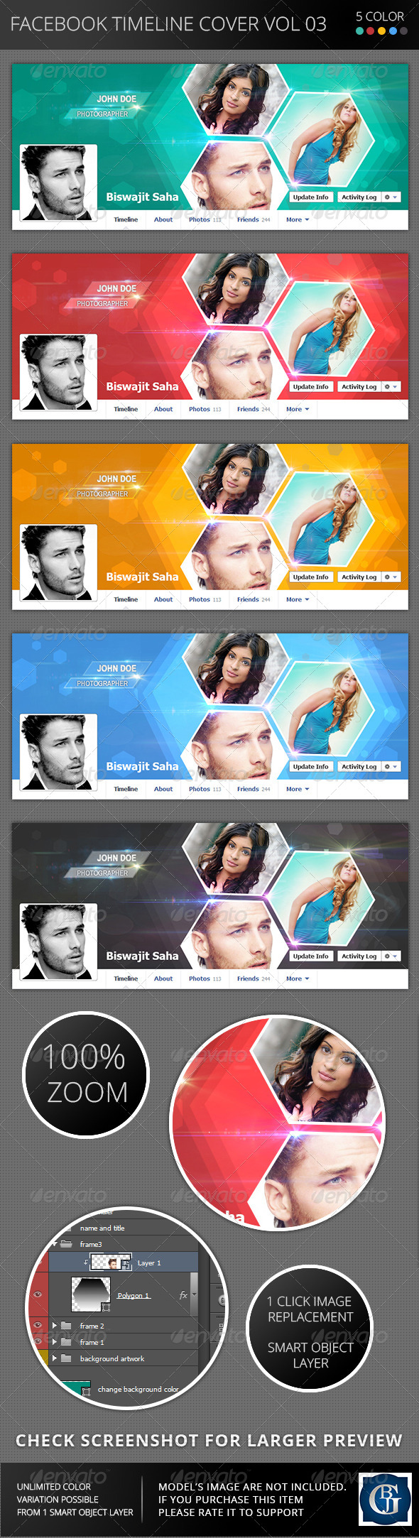 GraphicRiver Facebook Timeline Cover Vol 03 6189725
