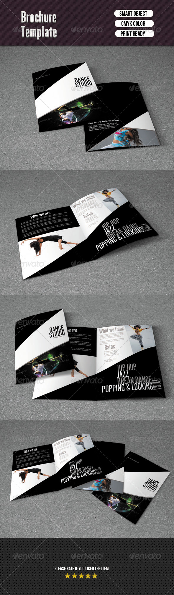GraphicRiver Bifold Brochure-Dance Studio 6189791
