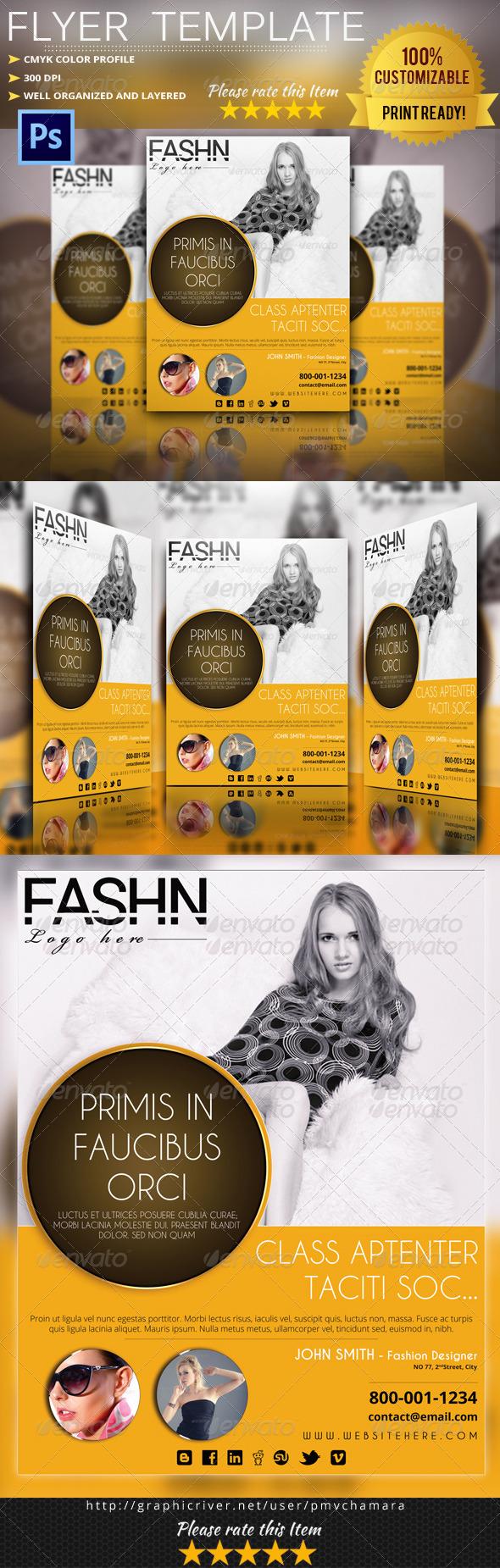 GraphicRiver Elegant Fashion Flyer 6189940
