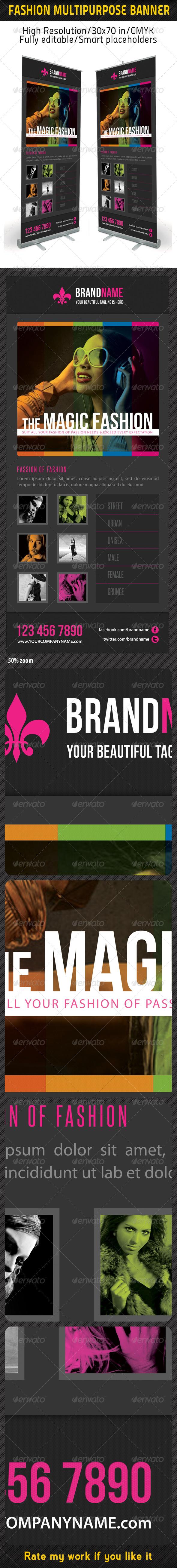 Fashion Multipurpose Banner Template 16 - Signage Print Templates