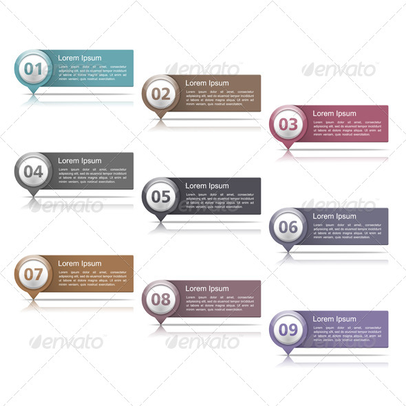 GraphicRiver Design Elements with Numbers 6190149