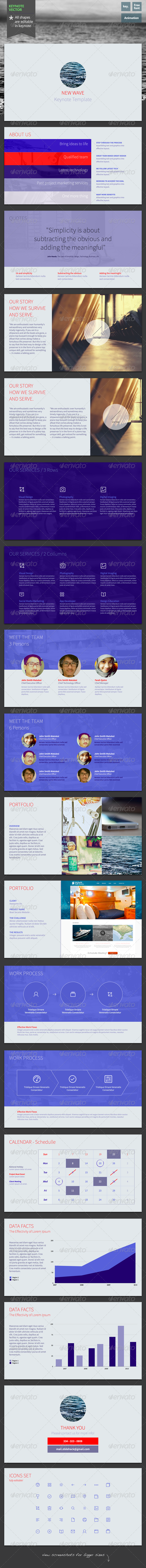 GraphicRiver New Wave Keynote Template 6160792