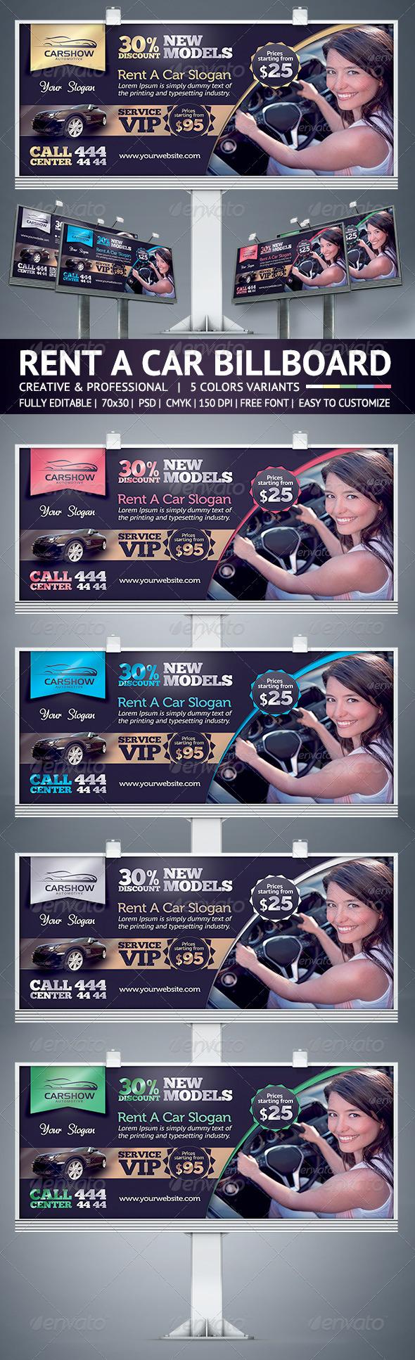 GraphicRiver Rent A Car Billboard 6139515