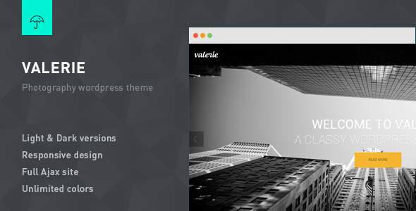 Valerie - Photography Wordpress Theme - Photography Creative
