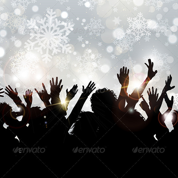 GraphicRiver Christmas Party Background 6190390
