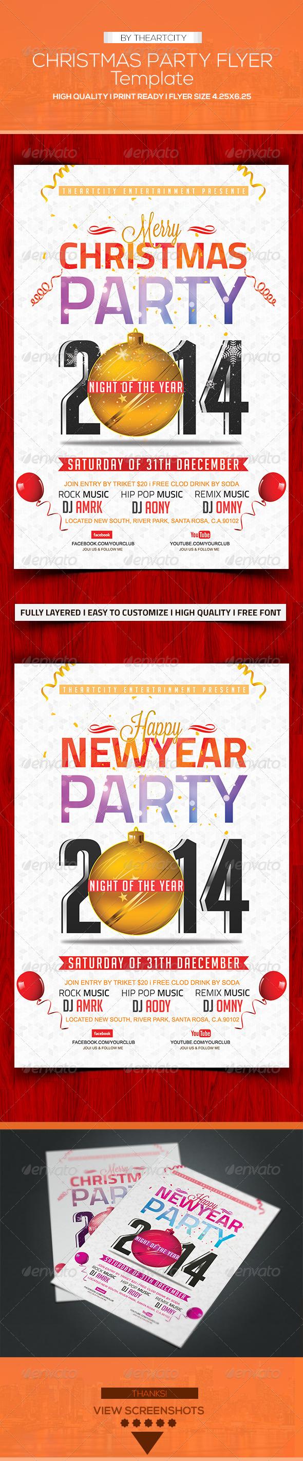 GraphicRiver Christmas Flyer 6190570