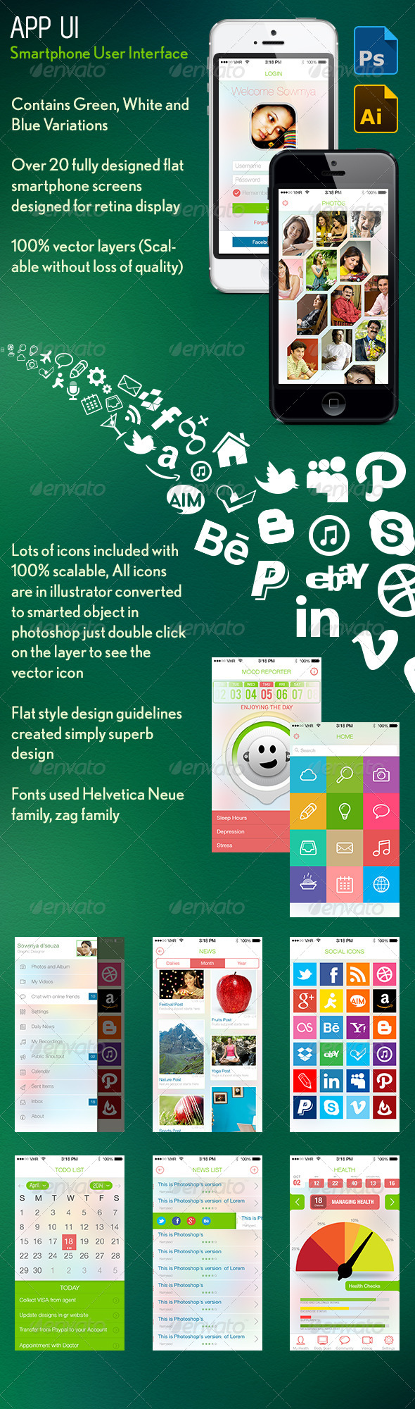 GraphicRiver Smartphone User Interface Kit 6155114