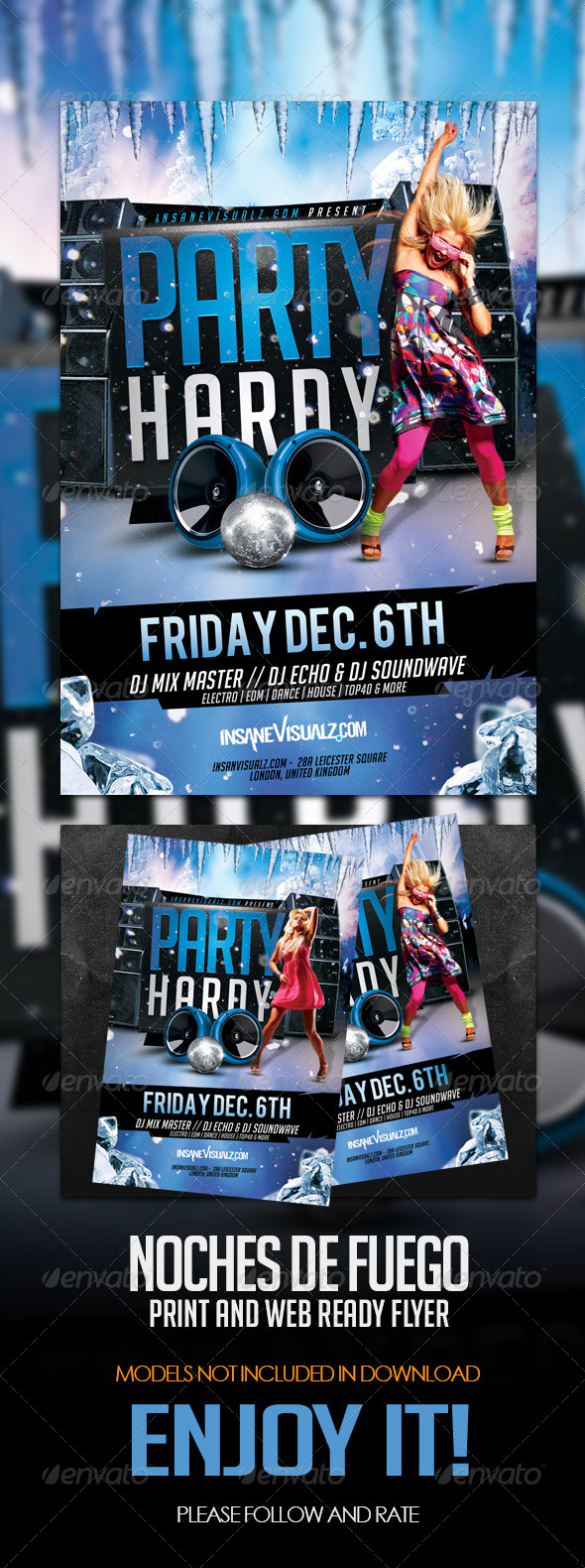 Party Hardy Flyer Template - Clubs & Parties Events