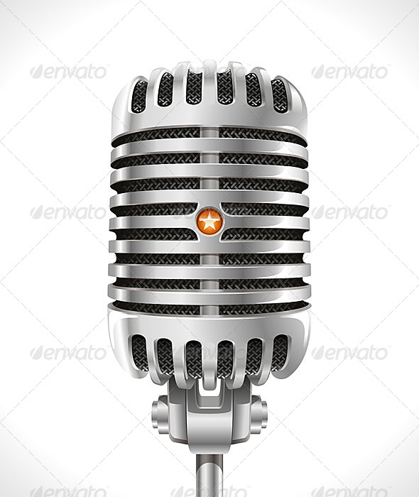 GraphicRiver Old Microphone 6191044