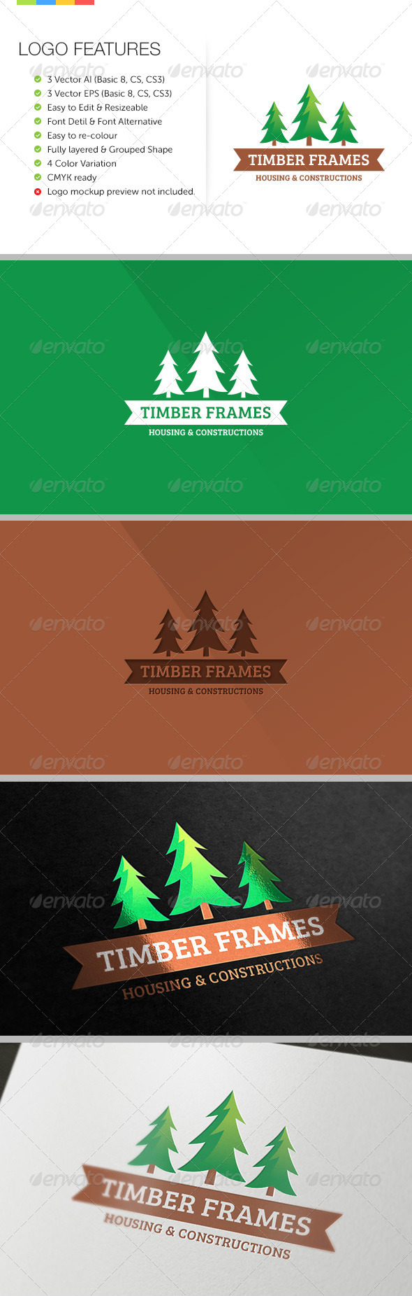 GraphicRiver Timber Frame Housing Logo 6191052
