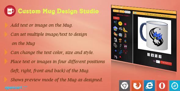 Mug Design and Custom Printing Module for OpenCart