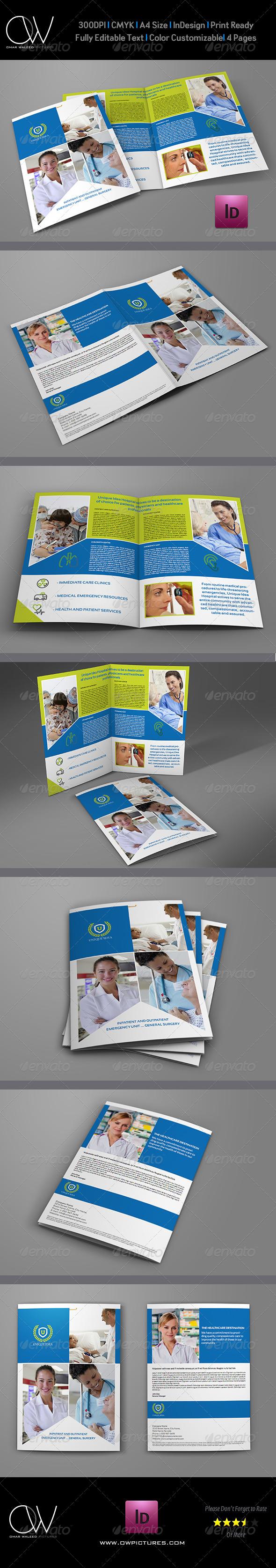 GraphicRiver Hospital Bi-Fold Brochure Template 6191091