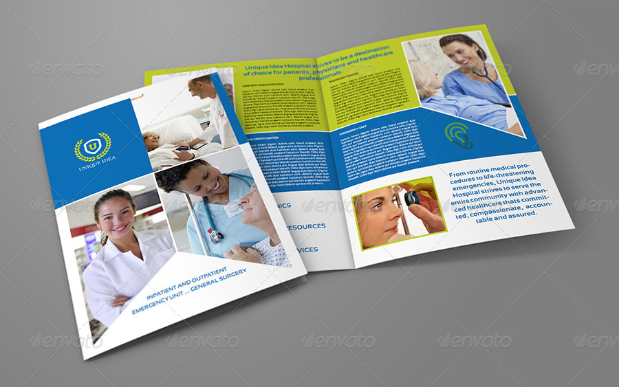 Hospital bi fold brochure template by owpictures for Hospital menu template