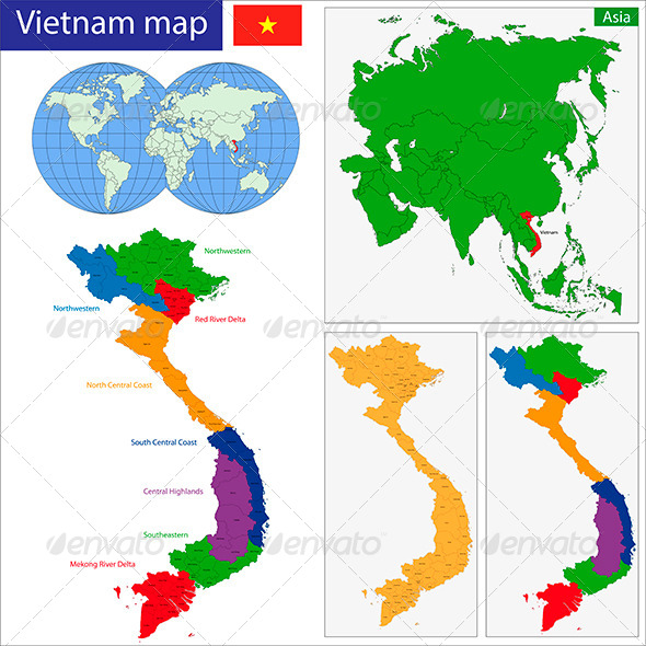 GraphicRiver Vietnam Map 6191392