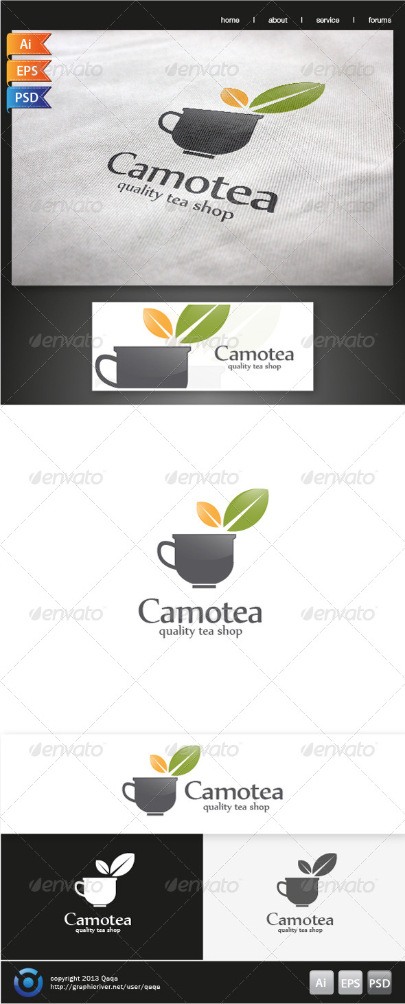 GraphicRiver Tea Cup Logo 6191413