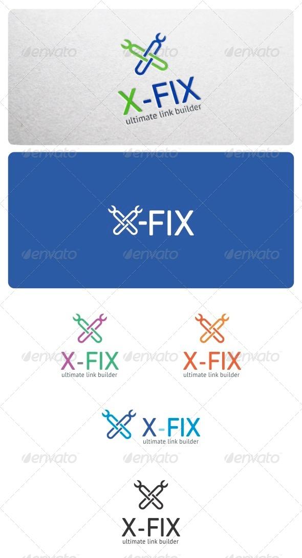 GraphicRiver X-Fix Logo Template 6153409