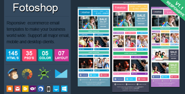 ThemeForest Fotoshop Responsive Ecommerce Email Newsletter 6192018