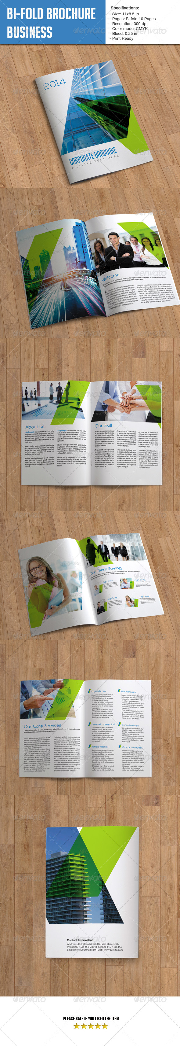 GraphicRiver Bifold Brochure for Business- 10 Pages 6192294