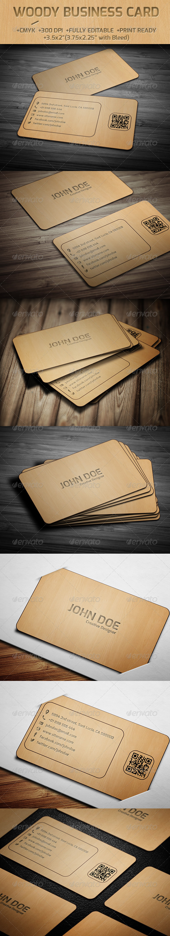 GraphicRiver Woody Business Card 6192513
