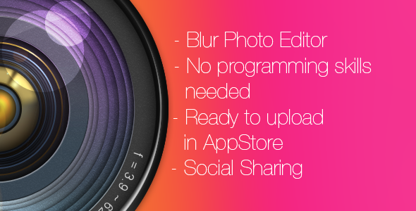 CodeCanyon Photo Blur Blur Wallpaper editor for iPhone 6192559