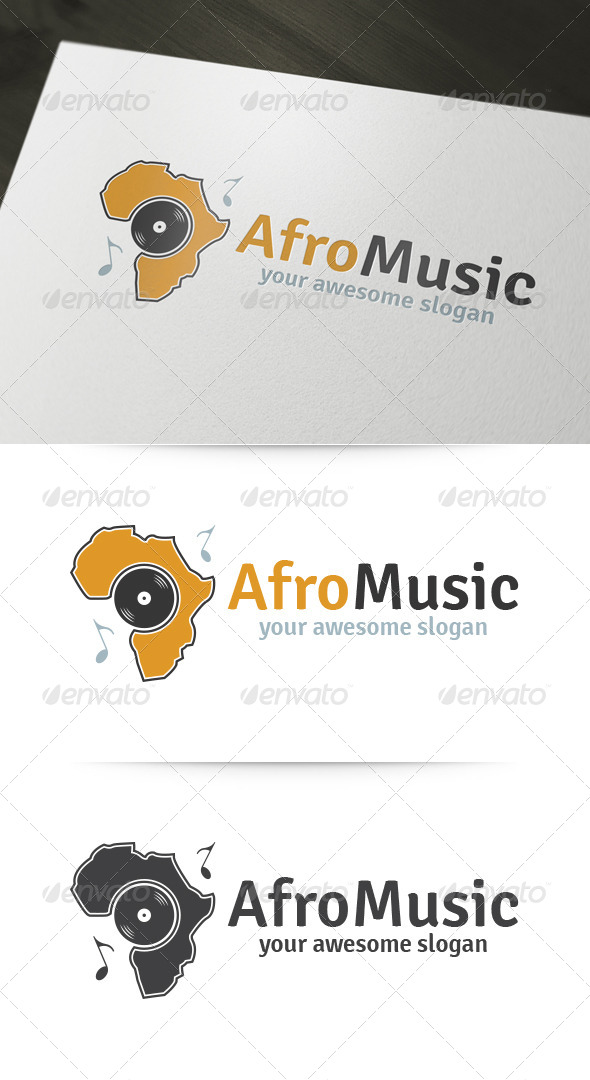 GraphicRiver Afro Music Logo 6192583