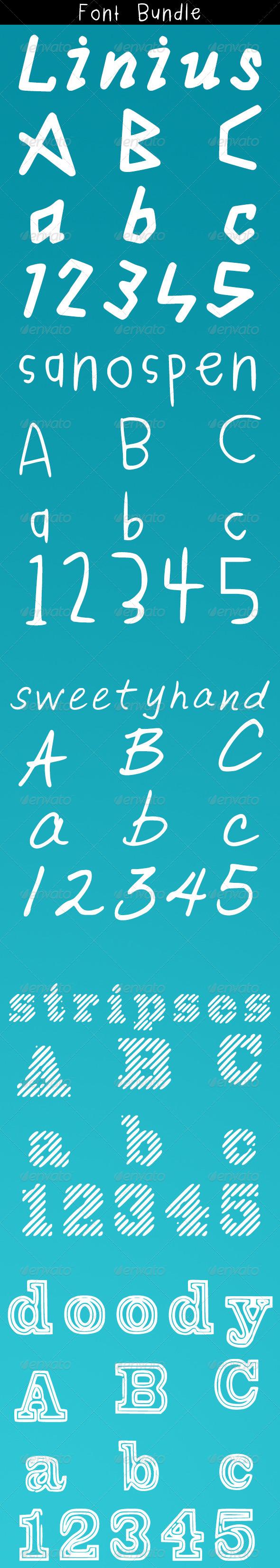 GraphicRiver Font Bundle 6147467