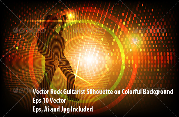 GraphicRiver Rock Guitarist 6192703