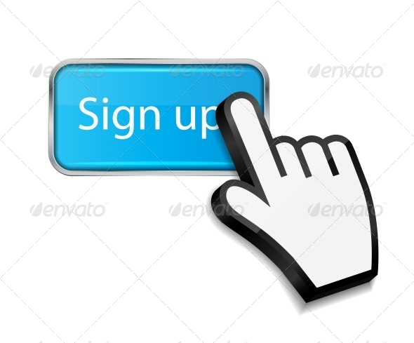 GraphicRiver Mouse Hand Cursor on Sign Up Button 6192920