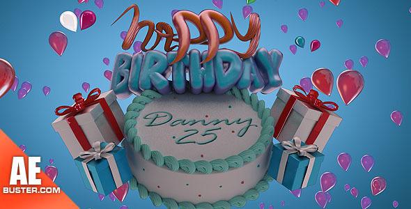 Happy Birthday Cake Lite